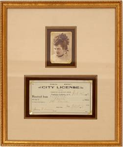 Prostitute License and Photo from Tombstone, Arizona