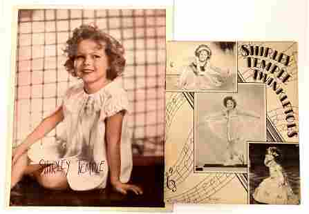 Early Shirley Temple Photograph & Booklet [135247]