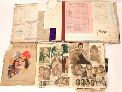 Theatre and Hollywood Scrapbook Pair [137435]