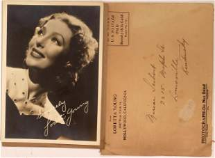 Loretta Young Autographed Photo [135686]