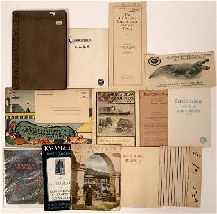 Early Los Angeles Booklets & Pamphlets [135824]