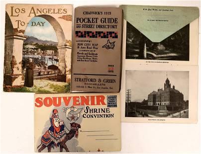 Los Angeles Pocket Map, Guide, & Souvenir Folders