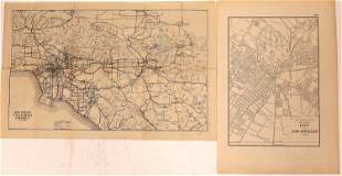 Two 1920's California & Los Angeles Maps [136019]