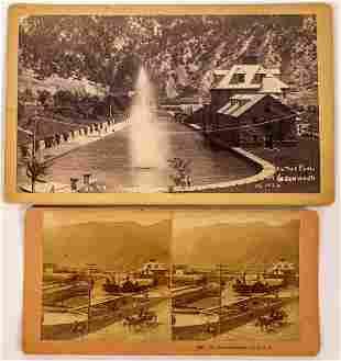 Glenwood Springs Resort Stereoview & Boudoir Photograph