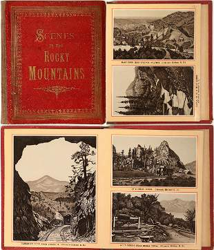 """""""Scenes in the Rocky Mountains"""" (Scenic Booklet)"""