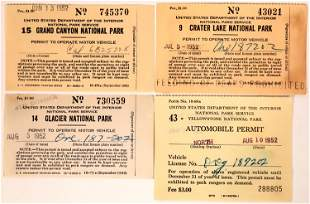 Early National Park Car Permits [135289]