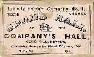 Gold Hill Fire Department Ticket to their Grand Ball