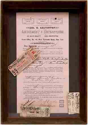 Piper's Opera House of Virginia City Contract with M.B.