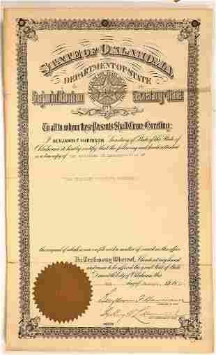 Oklahoma Territory Townsite Articles of Incorporation