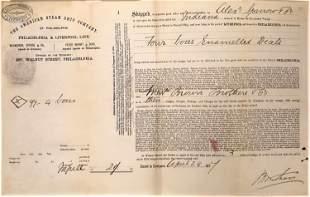 American Steamship Co. Shipping Receipt: Philadelphia &
