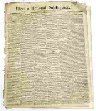 Early Washington D.C. National Newspaper [136833]