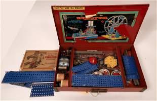 Model 8-1/2 Erector Set in Original Red Metal Box