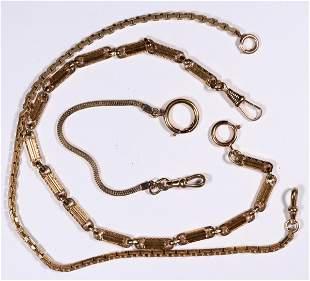 14K Gold Antique Watch Chains [136554]
