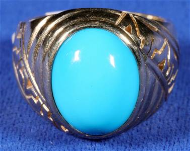 Native American Design Turquoise Ring  [133849]
