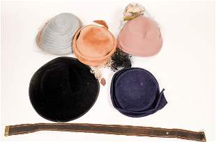 Ladies Vintage Hats and Hat Boxes [136680]