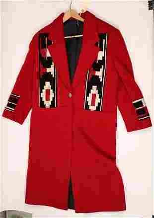 Red Southwestern Style Coat [136569]