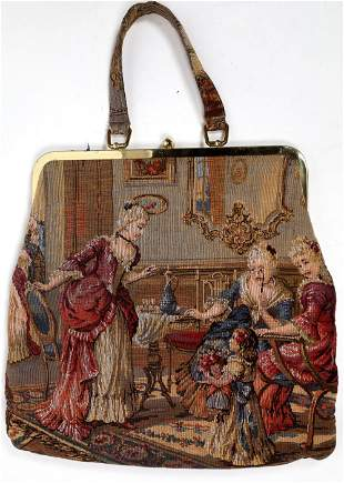 Julius Resnick Large Tapestry Handbag 1950s [135150]
