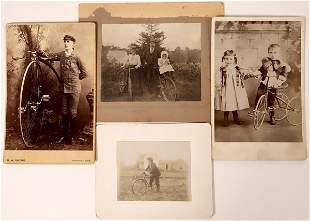 Early Bicycle Photos & Cabinet Cards [135735]