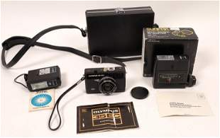 Olympus 35 EC Compact Camera Plus Sunpak Flash