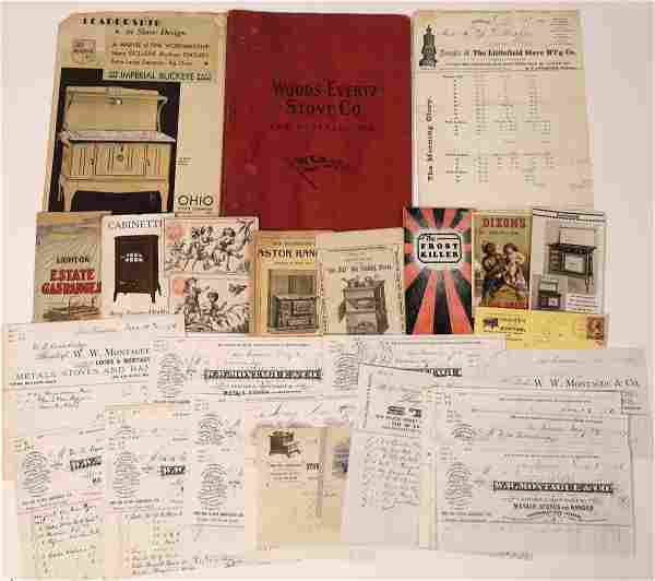 Stoves & Ranges Billhead Collection & Ephemera