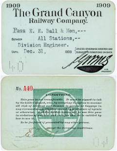 Grand Canyon Railway Company Annual Pass [138854]