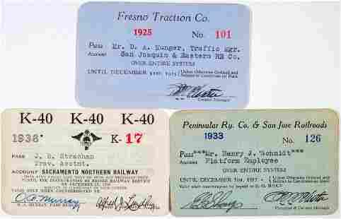 Three Different Central California Railroad Annual
