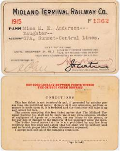 Midland Terminal Railway Co. Annual Pass [138849]