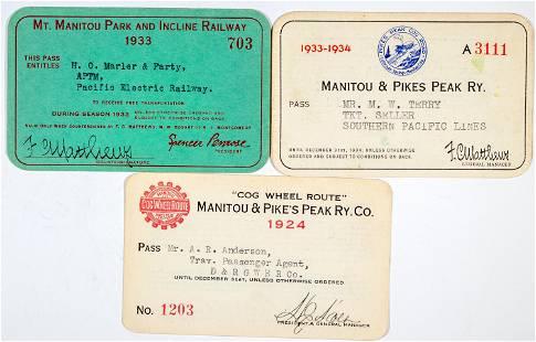 Colorado Railroad Pass Trio [138845]