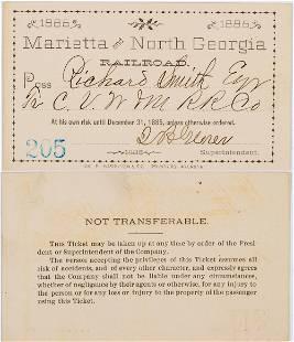 Marietta & North Georgia Railroad Annual Pass [138885]