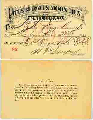 Pittsburgh & Moon Run Railroad Annual Pass [138864]