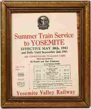 Yosemite Valley Railway Broadside, 1941 [137508]