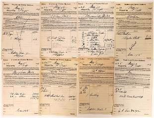Virginia & Truckee Railroad Receipts to Various
