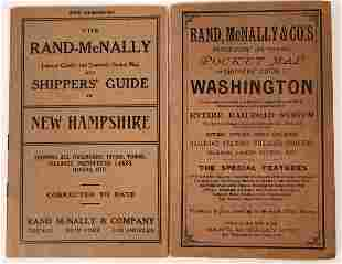 Early Rand-McNally State Shipperís Guides w/Color Maps