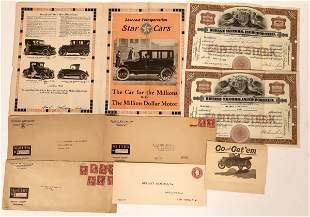 Durant Motor Cars Ephemera [135108]