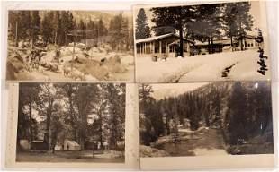 Cisco Grove and Applegate, California Postcards (4)