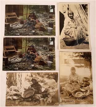 National American Basket Weaving Postcards (5)