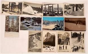 Yosemite Ski Lodges Postcard Collection (12) [137875]