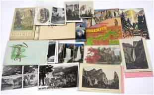 Yosemite/Animals Ephemera (approx 50 pieces) Post Card