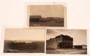 Small Town Old Real Photo Postcards Street Scenes