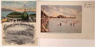 Saltair Beach Bathing Resort Vintage Postcards