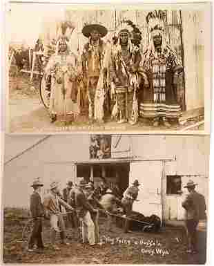 Wyoming Native American & Cowboy Real Photo Postcards