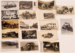 Automobile RPC Postcards (17) [127083]