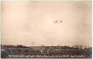 Aviation Pioneer Postcards #7 - Charles F. Willard - 1