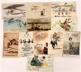 Early Aviation Special Occasion Postcards - 12