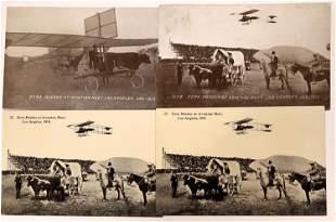 Ezra Meeker at the 1910 L.A. Air Meet - 4 pcs [137099]