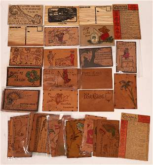 Leather and Wood Postcards - 39 [138808]