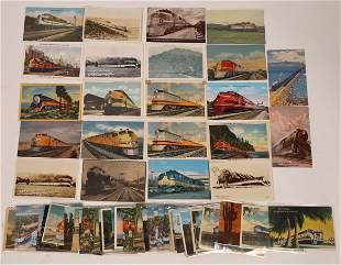 Railroad Diesel Locomotive Postcards [138945]
