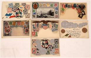 Stamp & Coin Postcards - 7 [137680]