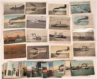 West Coast Ferry & Steamer Postcards, Group 1 (65)