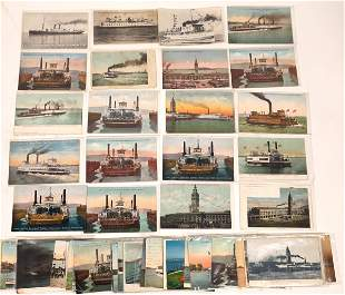 West Coast Ferry & Steamer Postcards, Group 2 (55)
